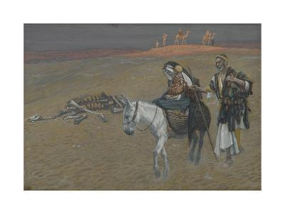 The Flight into Egypt from 'The Life of Our Lord Jesus Christ'-James Jacques Joseph Tissot-Giclee Print