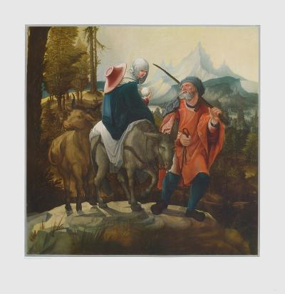 The Flight into Egypt-Wolf Huber-Collectable Print