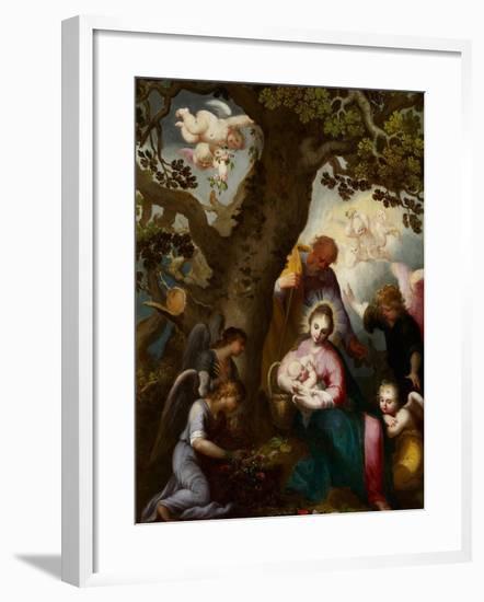 The Flight into Egypt-Abraham Bloemaert-Framed Giclee Print