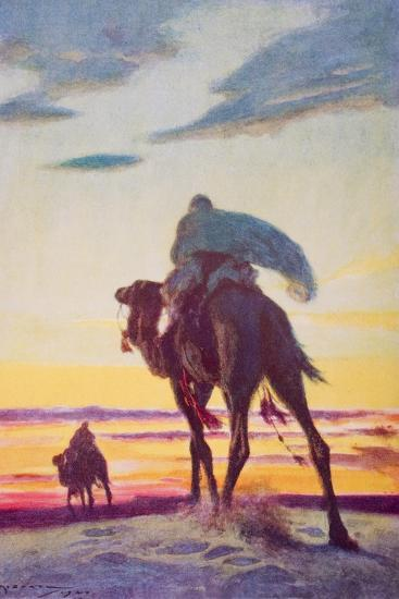 The Flight of Muhammad to Medina-Arthur C. Michael-Giclee Print