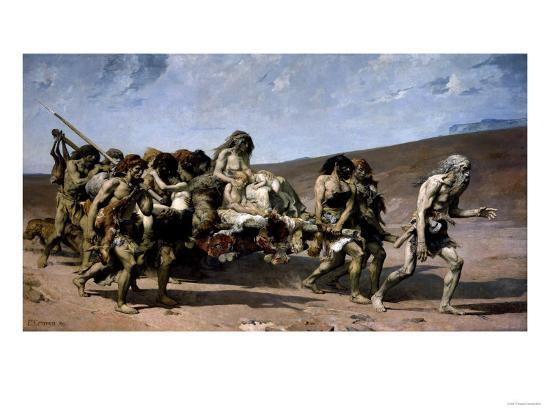The Flight of the Cainites, c.1880-Fernand Cormon-Giclee Print