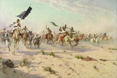 The Flight of the Khalifa after His Defeat at the Battle of Omdurman, 2nd September 1898, 1899-Robert George Talbot Kelly-Giclee Print