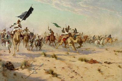 The Flight of the Khalifa at the Battle of Omduran, 1898-Robert George Talbot Kelly-Giclee Print