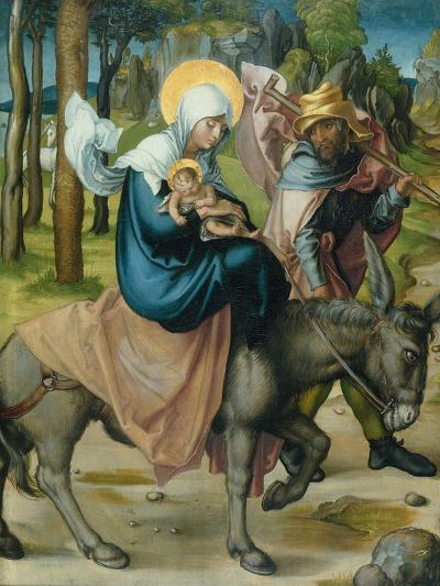 "The Flight to Egypt, from the Altar: ""The Virgin's Seven Agonies"", 1495-96-Albrecht D?rer-Giclee Print"