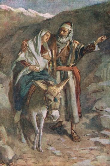 The Flight to Egypt-Harold Copping-Giclee Print