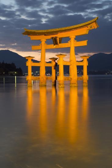 The Floating Miyajima Torii Gate of Itsukushima Shrine at Dusk-Stuart Black-Photographic Print