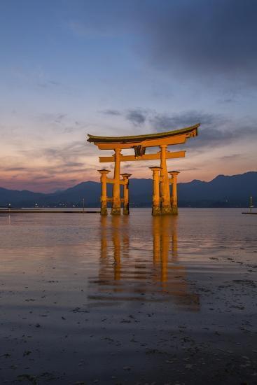 The 'Floating' Torii Gate of the Itsukushima Shinto Shrine, at High Tide-Macduff Everton-Photographic Print