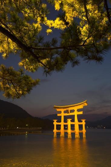 The 'Floating' Torii Gate of the Itsukushima Shinto Shrine, Illuminated at High Tide-Macduff Everton-Photographic Print