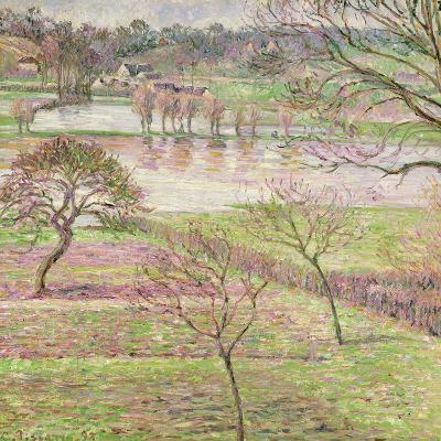 The Flood at Eragny, 1893-Camille Pissarro-Giclee Print