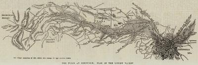 The Flood at Sheffield; Plan of the Loxley Valley--Giclee Print