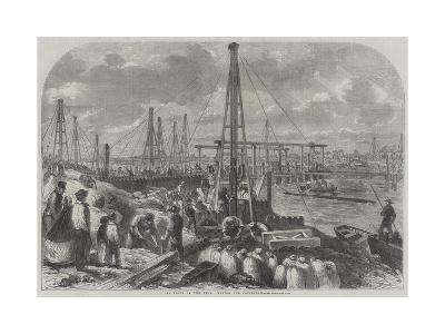 The Flood in the Fens, Making the Cofferdam--Giclee Print
