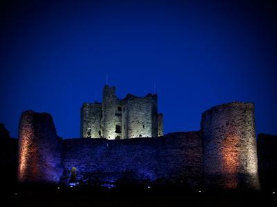 The Flood Lit Walls of Trim Casle, Trim, County Meath, Ireland--Photographic Print