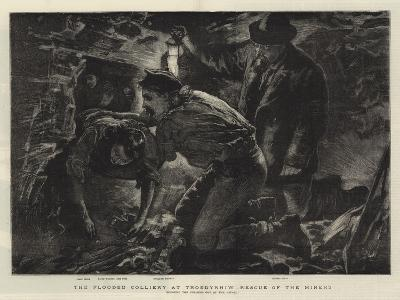 The Flooded Colliery at Troedyrhiw, Rescue of the Miners--Giclee Print