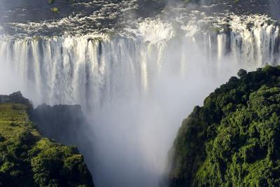 The Flooded Waters of the Zambezi River Cascade in a Curtain across the Face of Victoria Falls-Jason Edwards-Photographic Print