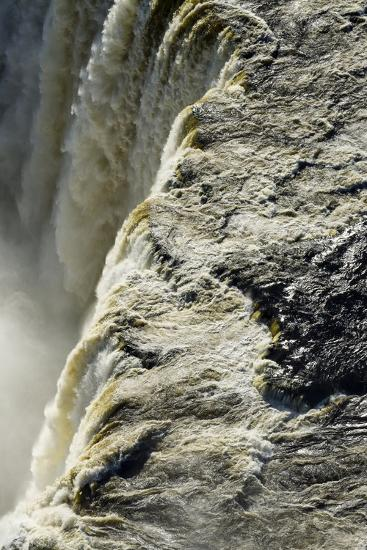 The Flooded Waters of the Zambezi River Pour over Victoria Falls, into the Cataract of First Gorge-Jason Edwards-Photographic Print