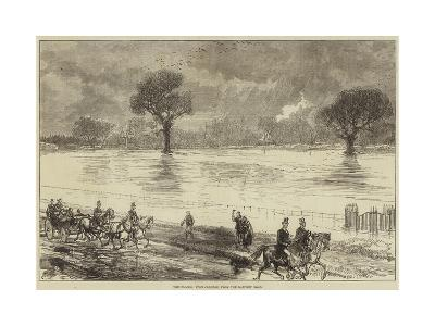 The Floods, Eton College, from the Datchet Road--Giclee Print