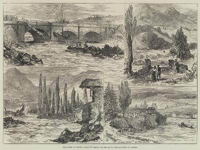 The Floods in France, Valley of Campan, on the Adour, Near Bagneres De Bigorre--Giclee Print