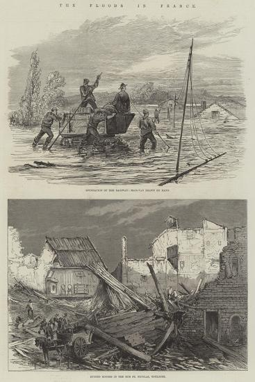 The Floods in France--Giclee Print