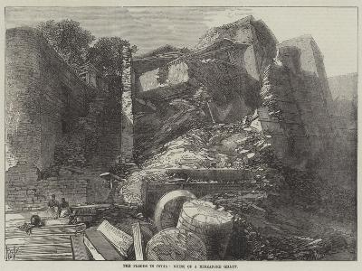 The Floods in India, Ruins of a Mirzapore Ghaut--Giclee Print
