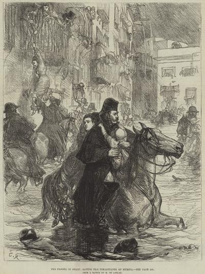The Floods in Spain, Saving the Inhabitants of Murcia--Giclee Print