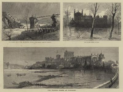 The Floods, Scene at Windsor--Giclee Print