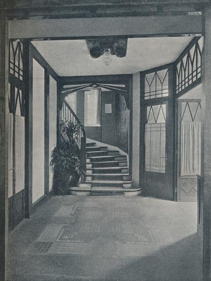 The floor and staircase of Behrens House, designed by Peter Behrens, 1901-Unknown-Photographic Print