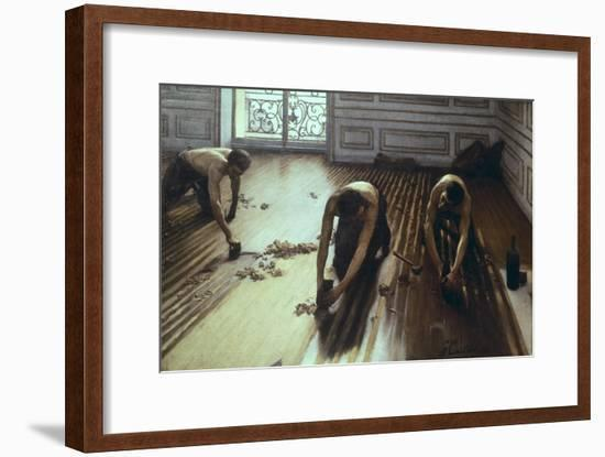 The Floor Scrapers-Gustave Caillebotte-Framed Art Print