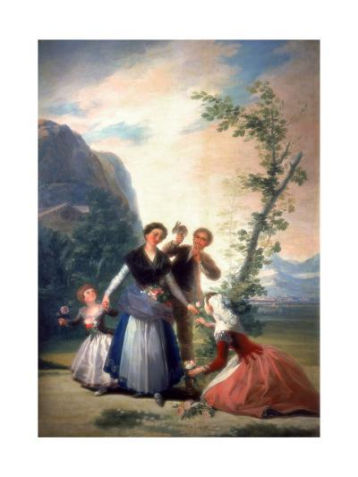 The Florists or Spring, 1786-Francisco de Goya-Giclee Print