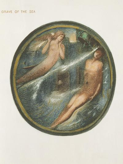 The Flower Book: Xvi. Grave of the Sea, 1905 (Litho with Gouache on Paper)-Edward Burne-Jones-Giclee Print