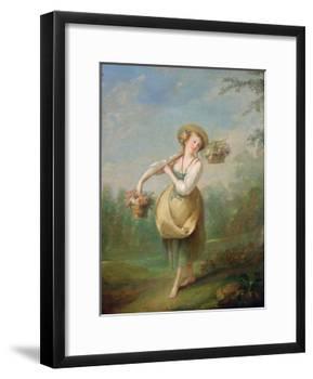 The Flower Girl-Jean-Baptiste Huet-Framed Giclee Print