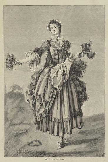 The Flower Girl--Giclee Print