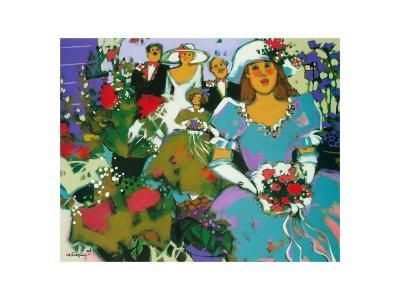 The Flower Girls-Claudette Castonguay-Art Print