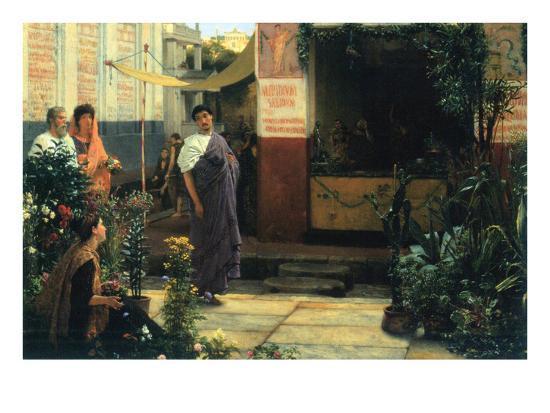 The Flower Market-Sir Lawrence Alma-Tadema-Art Print