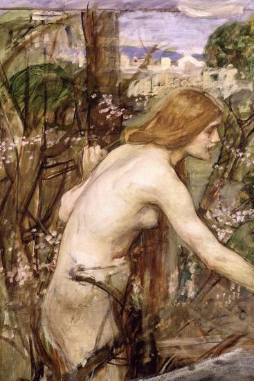 The Flower Picker-John William Waterhouse-Giclee Print