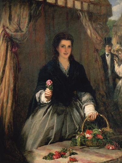 The Flower Seller, 1865-William Powell Frith-Giclee Print