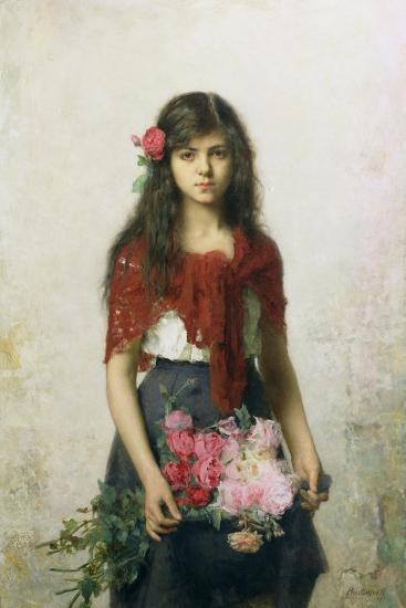 The Flower Seller-Alexei Alexevich Harlamoff-Giclee Print