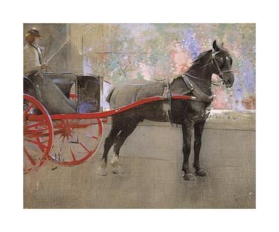 The Flower Shop-Joseph Crawhall-Premium Giclee Print