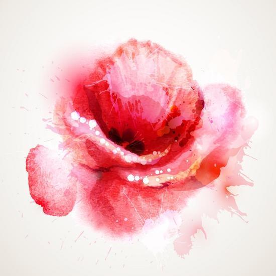 The Flowering Red Poppy-artant-Art Print