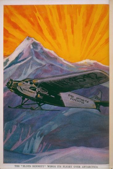 The 'Floyd Bennett' Wings its Way over Antarctica--Giclee Print