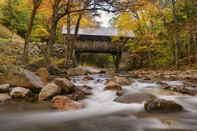 The Flume Bridge-Michael Blanchette-Photographic Print