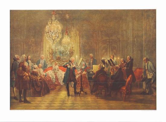 The Flute-Concert of Friedrich II in Sanssouci-Adolph Von Menzel-Collectable Print