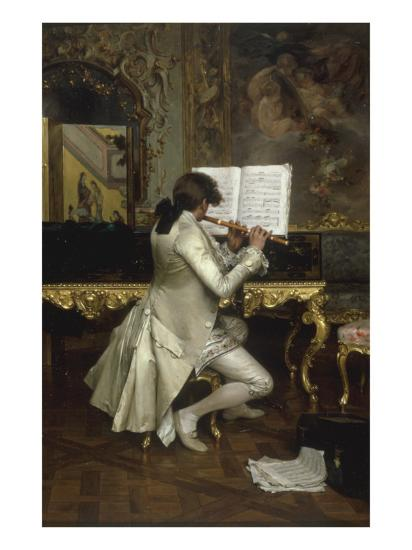 The Flute Player-Charles Bargue-Giclee Print