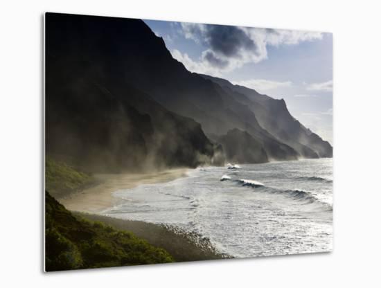 The Fluted Ridges of the Na Pali Coast on the North Shore of Kauai, Hawaii No.2-Sergio Ballivian-Metal Print