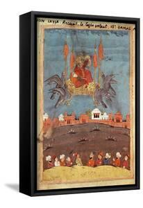 The Flying Carpet, from the Poem 'Layla and Majnun' by Nizami