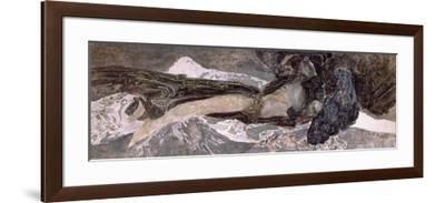 The Flying Demon, 1899-Mikhail Aleksandrovich Vrubel-Framed Giclee Print