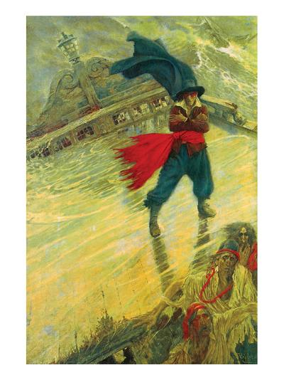 The Flying Dutchman-Howard Pyle-Premium Giclee Print
