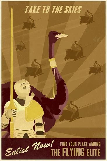 The Flying Elite-Steve Thomas-Giclee Print