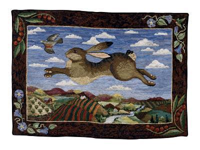 The Flying Hare-Jan Gassner-Art Print