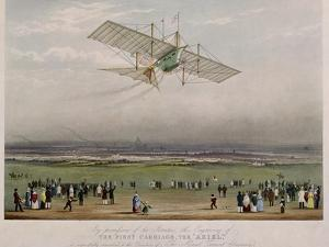 "The Flying Machine, the ""Ariel,"" from Designs Prepared by W.S. Henson in 1842"