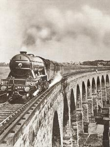 The Flying Scotsman on it's Non-Stop Journey Between London and Newcastle in 1927. from the Story…